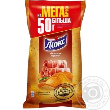 Чіпси Люкс зі смаком бекону 183г