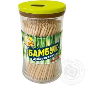Зубочистки Фрекен Бок бамбуковые 250шт - купить, цены на Novus - фото 1
