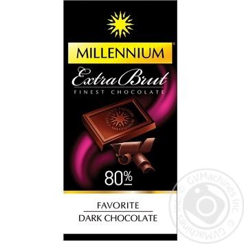 Шоколад черный Millennium Favorite Extra Brut 80% 100г - купить, цены на МегаМаркет - фото 1