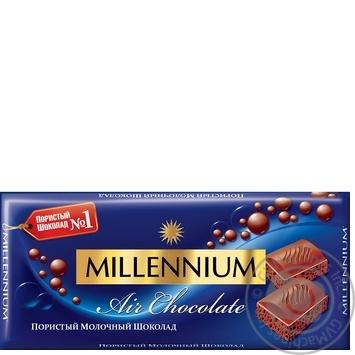 Шоколад Millenium Premium молочный пористый 90г - купить, цены на ЕКО Маркет - фото 1