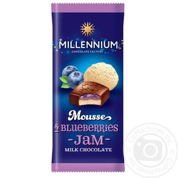 Шоколад Millennium Mousse молочный с муссовой и черничной начинкой 135г