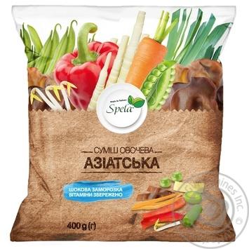 Суміш овочева Spela Азіатська 400г - купити, ціни на МегаМаркет - фото 1