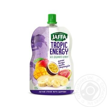 Смузі Jaffa Tropic Energy з перетертих манго, бананів, гуави з маракуйєю 120г - купити, ціни на Метро - фото 1