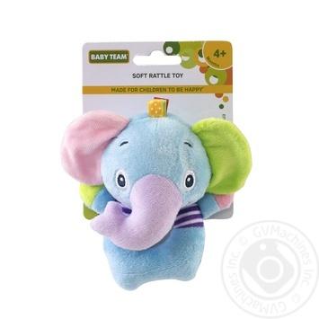 Игрушка-погремушка Baby Team мягкая - купить, цены на Фуршет - фото 1