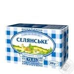 Масло Селянське сладкосливочное 72.5% 200г - купить, цены на Ашан - фото 1