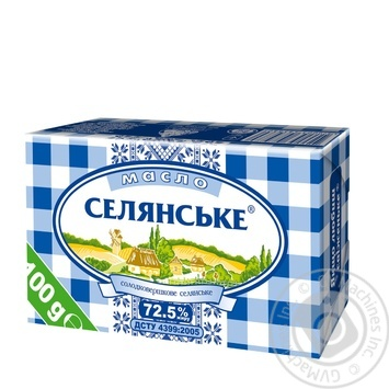 Масло Селянское сладкосливочное 72,5% 100г - купить, цены на Novus - фото 1