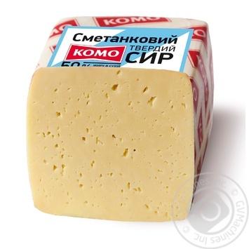 Сыр Комо Сметанковый 50% - купить, цены на МегаМаркет - фото 1