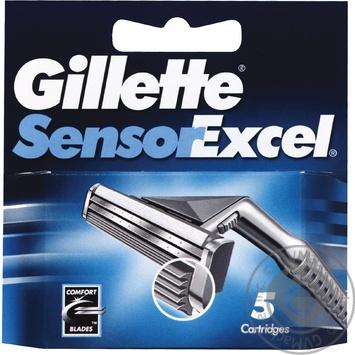 Картридж для гоління Gillette Sensor Excel змінний 5шт - купити, ціни на Восторг - фото 1