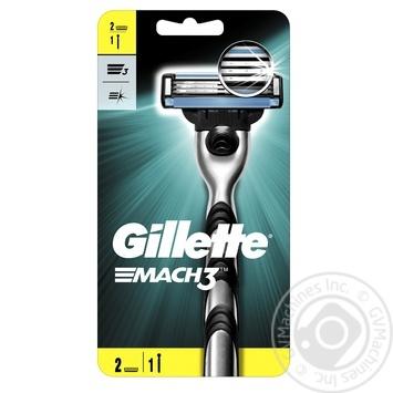 Бритва Gillette Mach3 с 2 сменными картриджами - купить, цены на Таврия В - фото 1