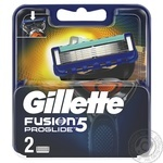 Gillette Fusion5 ProGlide replaceable shaving cartridges 2pcs