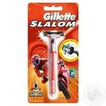 Бритва Gillette SLALOM Red c 1 сменным картриджем