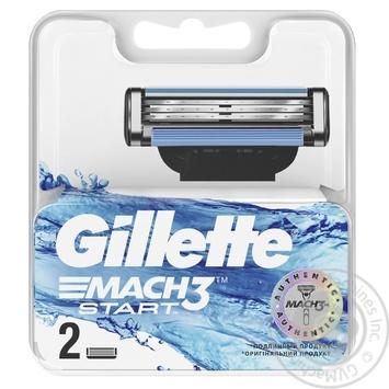 Gillette Mach3 Start replaceable shaving cartridges 2pcs