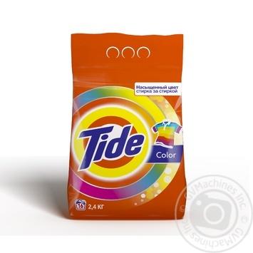 Пральний порошок Tide для білого та кольорового автомат 2,4кг