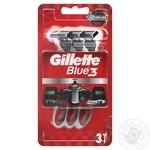 Бритвы Gillette Blue 3 Nitro одноразовые 3шт - купить, цены на Ашан - фото 1