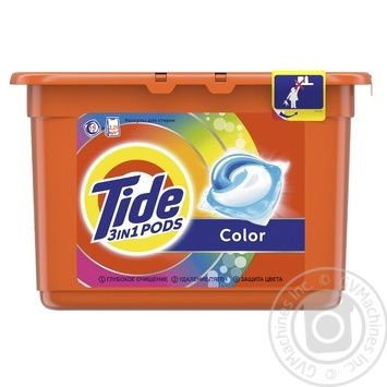Tide Pods 3in1 Color Washing Capsules 15pcs 24,8g - buy, prices for Auchan - photo 4