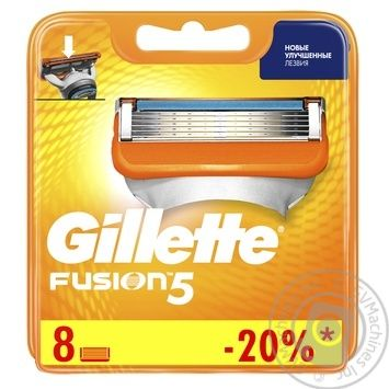 Картриджи для бритья Gillette Fusion5 сменные 8шт - купить, цены на Таврия В - фото 1