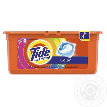 Tide Pods 3in1 Color Washing Capsules 30pcs 24,8g - buy, prices for Tavria V - image 4