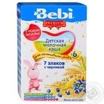 Каша Bebi Premium 7 злаків з чорницею 200г
