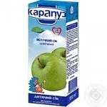 Сок Карапуз яблочный натуральный неосветленный с 4 месяцев 200мл