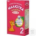 Maliutka for children from 6-12 months milk dry mix 350g