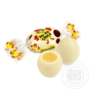 Roshen Ko-Ko Choco White Candy in white chocolate weights