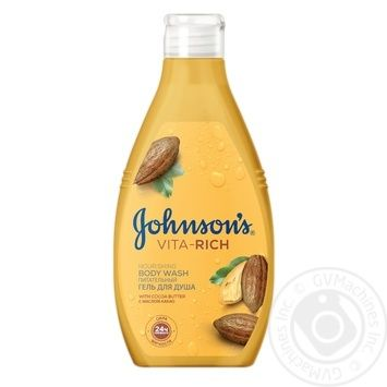 Johnson's Body Care Vita-Rich With Oil Cacao For Shower Gel 250ml - buy, prices for Novus - image 1
