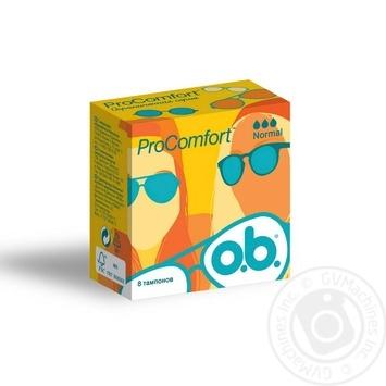 O.B. ProComfort Normal Tampons 8pcs - buy, prices for Novus - image 1