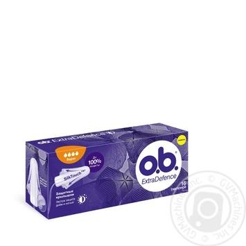 Тампоны O.B. ExtraDefence Super 16шт - купить, цены на Novus - фото 2