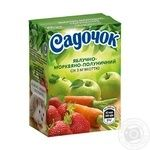 Sadochok apple-carrot-strawberry juice 0,2l