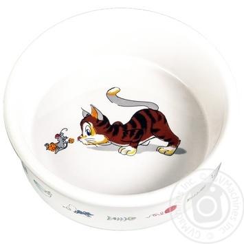 Миска керам. д/кот. 0,2л/11,5см арт.4007 х2 - купити, ціни на МегаМаркет - фото 1