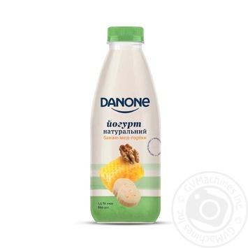 Йогурт Danone Банан-Мед-Горіхи натуральний питний 1,5% 800г - купити, ціни на МегаМаркет - фото 1