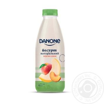 Йогурт Danone Персик-Дыня натуральный питьевой 1,5% 800г - купить, цены на Таврия В - фото 1