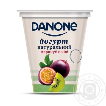 Йогурт Danone Маракуйя-Киви 2,5% 260г - купить, цены на Ашан - фото 1