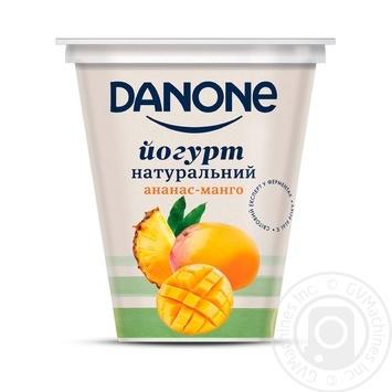 Йогурт Danone Ананас-Манго натуральний 2,5% 260г - купити, ціни на Ашан - фото 1