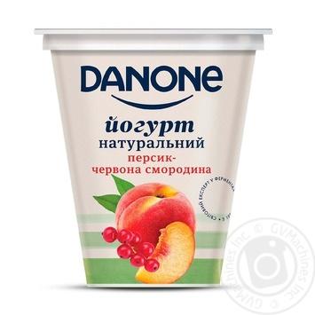 Йогурт Danone Персик-Красная смородина натуральный 2,5% 260г - купить, цены на Ашан - фото 1