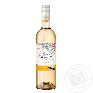Вино Bone Nouvelle Muscat белое полусладкое безалкогольное 0.5% 0,75л - купить, цены на Novus - фото 2