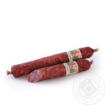 Sausage Saltivskiy myasokombinat raw smoked Ukraine