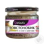 Veladis Salamuri Silver carp fillet-pieces in oil with onions 250g