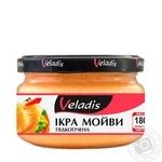 Veladis in a creamy sauce with smoke flavor capelin caviar 180g