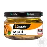 Veladis soft smoked mussels in oil 200g