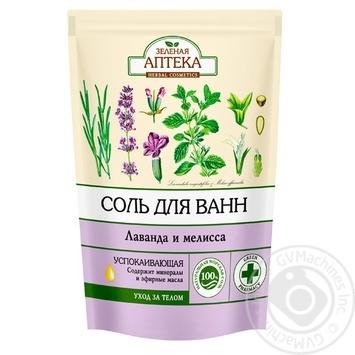 Соль для ванны Зеленая Аптека Лаванда и мелисса 500г
