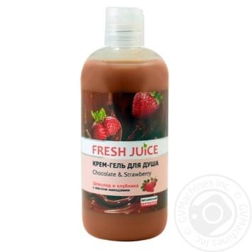 Крем-гель для душа Fresh Juice Chocolate & Strawberry 500мл