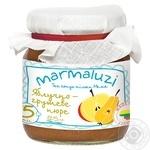 Puree Marmaluzi apple-pear for children 125g glass jar