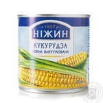 Vegetables corn Nizhyn canned 340g can Ukraine