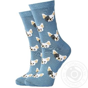 Носки GoodSox Бульдоги синие женские размер 23-25 - купить, цены на Novus - фото 1