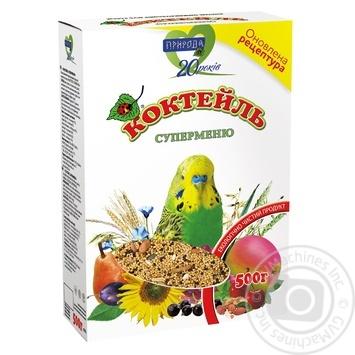 Корм Природа Коктейль суперменю для попугаев 500г - купить, цены на СитиМаркет - фото 1