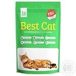 Наповнювач д/туалетів сілікагелевий Best Cat Зелена 3,6л х10