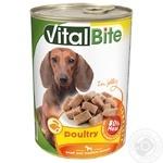 Консерва д/собак VitalBite з птицею в желе 415г