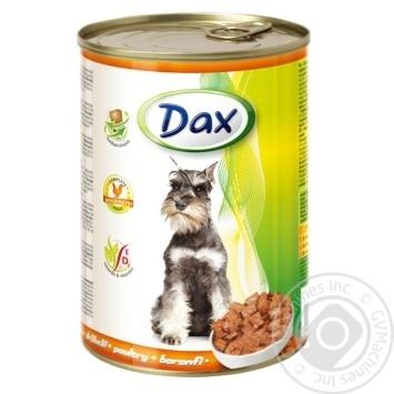 Корм для собак Dax с птицей 415г