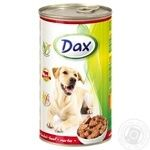 Food Dax beef canned for pets 1240g can